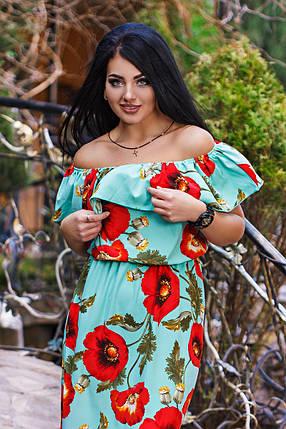 ДС459 Платье летнее длинное  размеры 50-56, фото 2