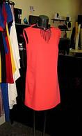 Платье свободного кроя кораллового цвета