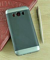 Мягкий серый чехол-накладка IPAKY Carbon для Samsung Galaxy J5 (2016)