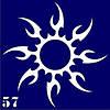 Трафарет для временного тату №57