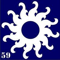 Трафарет для временного тату №59