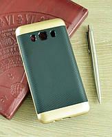 Мягкий золотой чехол-накладка IPAKY Carbon для Samsung Galaxy J5 (2016)