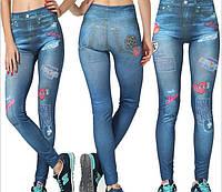 Джеггинсы под джинс с принтом , фото 1