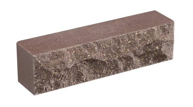Кирпич облицовочный LAND BRICK Скала коричневый 250х55х65 мм
