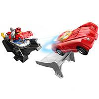 Hot Wheels игровой набор железный человек броня-пусковая установка Marvel Avengers Iron Man Armor-Up Launcher