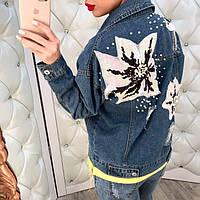 Куртка женская, материал джинс цвет только такой, фото реал , производство Китай гн №2811