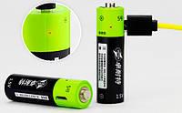Аккумуляторная батарея (Тип AA - пальчиковая) с функцией зарядки через USB ТМ ZNTER