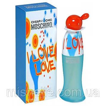 Туалетная вода для женщин Moschino Cheap & Chic I Love Love (Москино Лав Лав) реплика