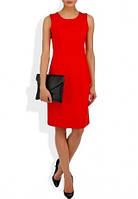 Платье футляр летнее офисного стиля красного цвета