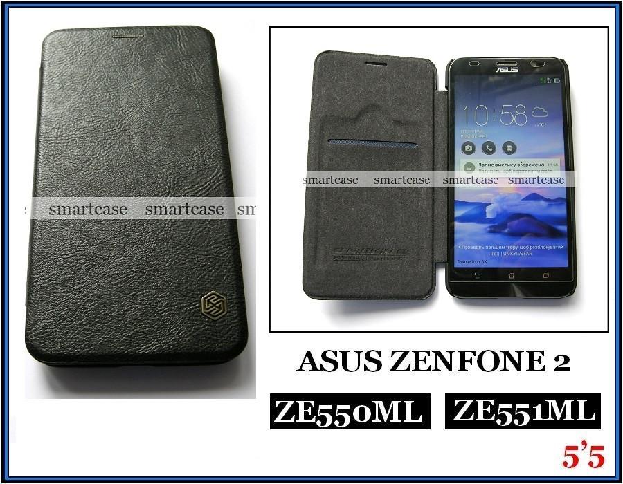 Черный чехол книжка Asus Zenfone 2 Ze551ML Z00AD Z00ADB, чехол Nillkin QIN Leather