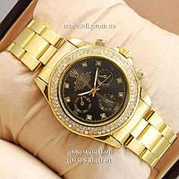 Часы Rolex Quartz diamond Gold/Black