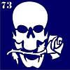 Трафарет для временного тату №73