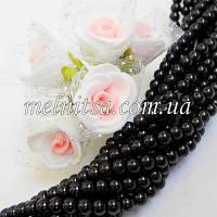 Бусины под жемчуг керамические, 4 мм, черный (50 шт)