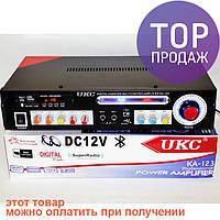 UKC KA-123 + USB + Bluetoth КАРАОКЕ 2микрофона/аудиотехника