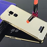 Металлический зеркальный чехол бампер Mirror для Asus Zenfone 3 Max ZC520TL (4 цвета в наличии)