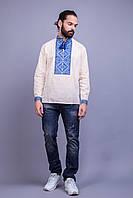 Мужская вышитая рубашка с класичческим  узором вышитым крестиком