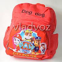 Детский рюкзак щенячий патруль красный
