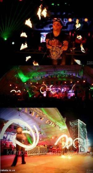 Огненное электросветовое шоу - ОРГАНИЗАЦИЯ ПРАЗДНИКА, СВАДЬБЫ В АЛУШТЕ, ЯЛТЕ И СИМФЕРОПОЛЕ (В КРЫМУ) в Крыму