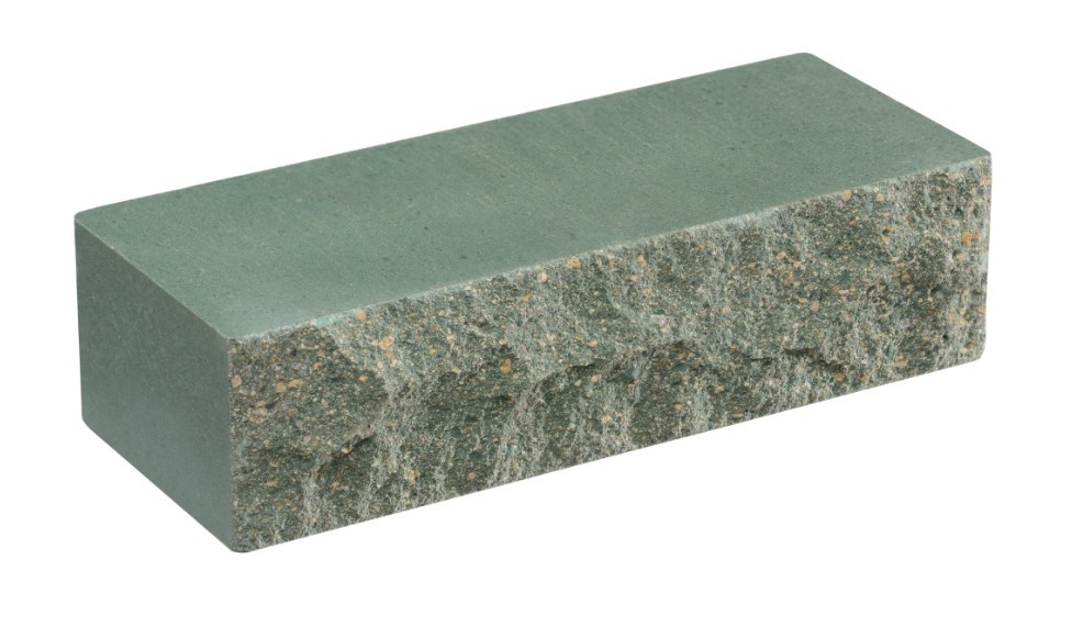Облицовочный кирпич зеленый LAND BRICK скала 250х100х65 мм