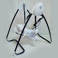 Стул-качели TS-100 2 в 1 (жезлонг-качалка - стульчик для кормления). Музыкалный от сети и батареек.