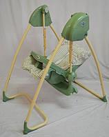 Стул-качели TS-100 2 в 1 (жезлонг-качалка -стульчик для кормления) Салатовый Музыкалный от сети и батареек.