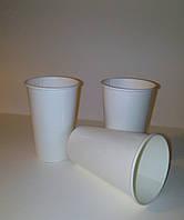 Стакан бумажный одноразовый ламинированный белый, 500 мл