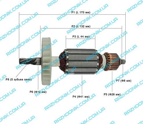 Якорь на перфоратор ИЖМАШ industrialline UP-2100, фото 2