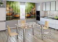 "ФотоШторы для кухни ""Чай"" 1,5м*2,5м (2 половинки по 1,25м), тесьма"