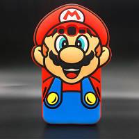 """Samsung J200F J2 оригинальный противоударный детский 3D чехол игрушка на телефон """"MARIO"""""""