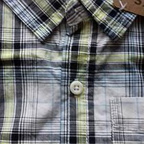 Рубашка в серую клетку с длинным рукавом на мальчика  Plaid Shirt Crazy8 (США)