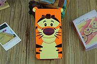 """Samsung J200F J2 оригинальный противоударный детский 3D чехол игрушка на телефон """"ТИГРА"""""""