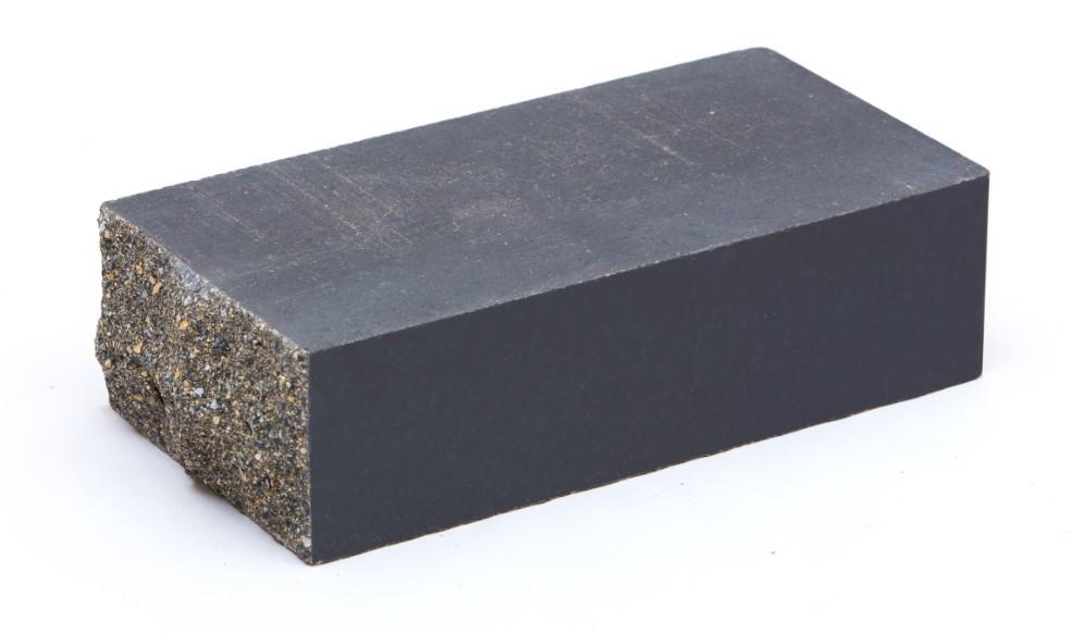 Облицовочный кирпич тычковой LAND BRICK рваный серый 230х120х65 мм
