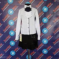 Детская школьная белая блузка для девочки TERKO
