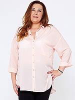 Блузка для полных женщин 295 розовая