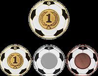 """Медаль """"Футбол"""" MMC5150 с жетоном и лентой"""