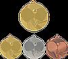 """Медаль """"Настольный теннис"""" MMC7750 с лентой"""