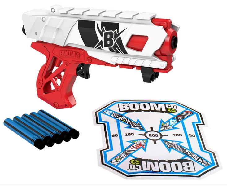BOOMco Бластер с мягкими пулями и мишенью Farshot B Red and White