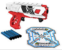 BOOMco Бластер с мягкими пулями и мишенью Farshot B Red and White, фото 1