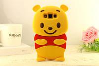 """Samsung J200F J2 оригинальный противоударный детский 3D чехол игрушка на телефон """"ВИНИ ПУХ"""""""