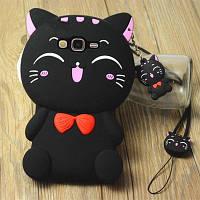 """Samsung J200F J2 оригинальный противоударный детский 3D чехол игрушка на телефон """"WOOW CAT"""""""