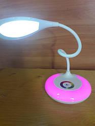 Сенсорная светодиодная настольная лампа на аккумуляторе и дополнительной подсветкой