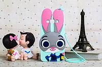 """Samsung J200F J2 оригинальный противоударный детский 3D чехол игрушка на телефон """" ДЖУДИ кролик judy """""""