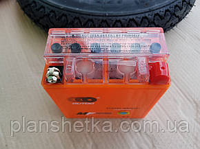 Акумулятор гелевий 12В 5А Active високий помаранчевий, фото 2