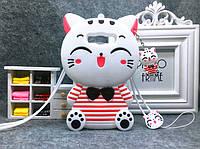 """Samsung J200F J2 оригинальный противоударный детский 3D чехол игрушка на телефон """" CAT """""""