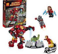 Конструктор Lele серия Heroes Gathering 79081А Разгром Халкбастера (аналог Lego Super Heroes 76031)