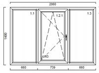 Вікно VEKA 1400*2060
