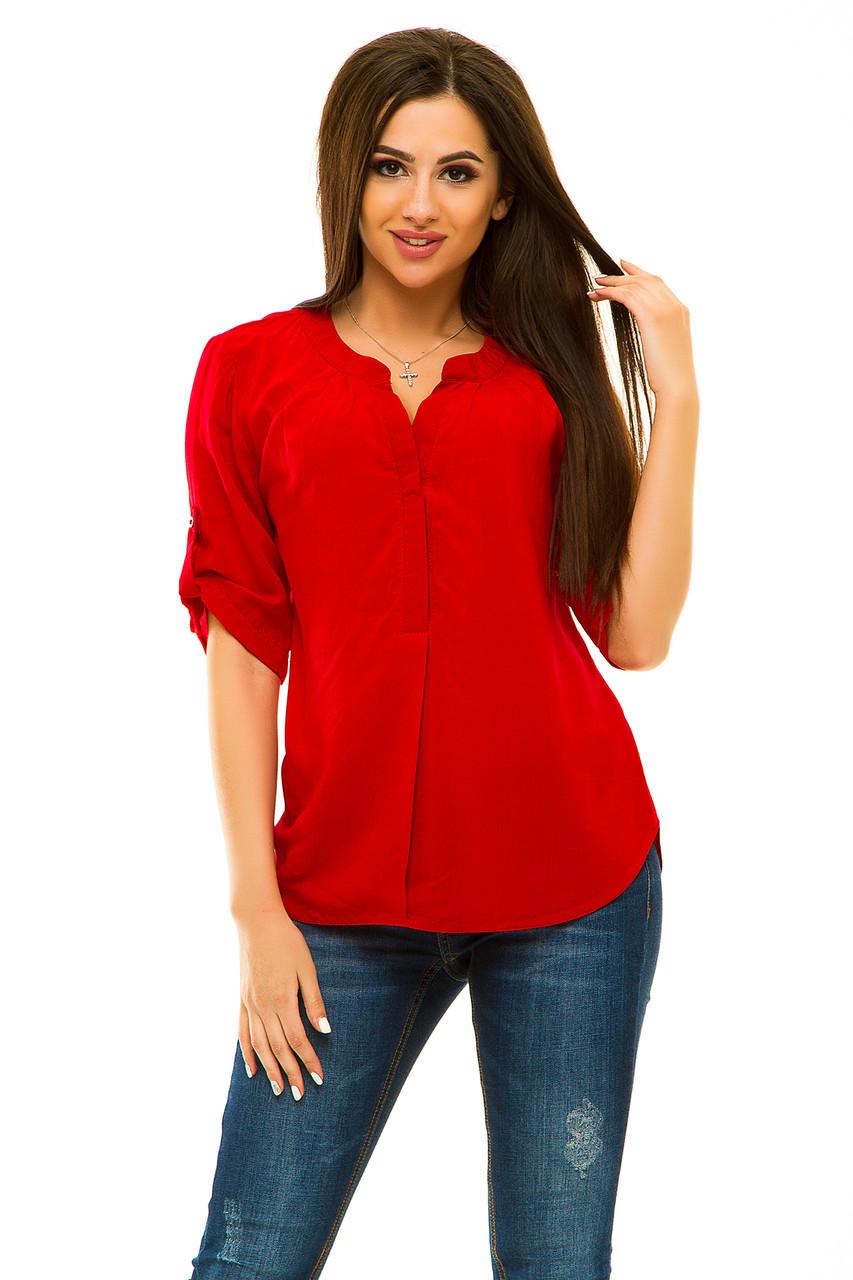 Блузка 238 красная