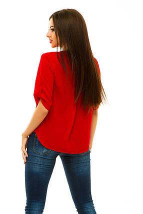 Блузка 238 красная, фото 2