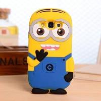 """Samsung J200F J2 оригинальный противоударный детский 3D чехол игрушка на телефон """" MINION МИНЬОН """""""