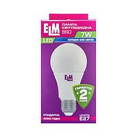 Лампа светодиодная ELM LED B60 7W PA10 E27 4000K